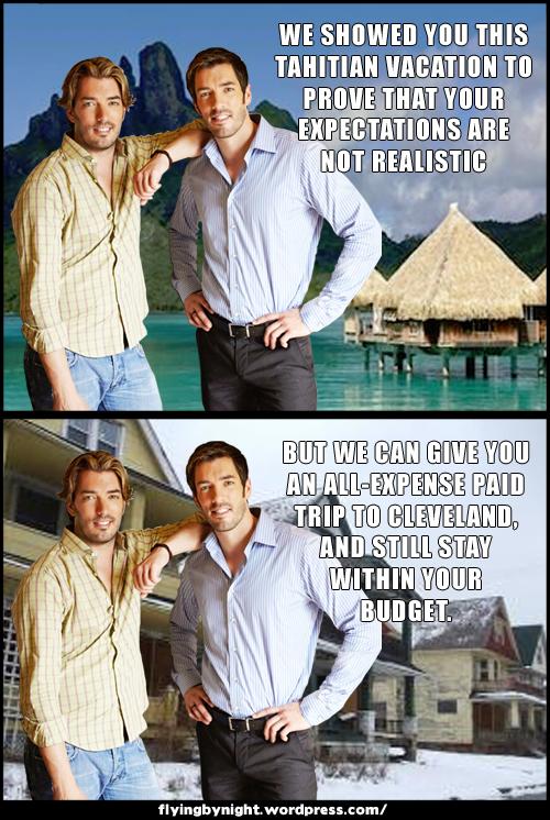 property brothers vacation tahiti cleveland meme