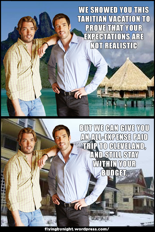 property brothers vacation tahiti cleveland meme