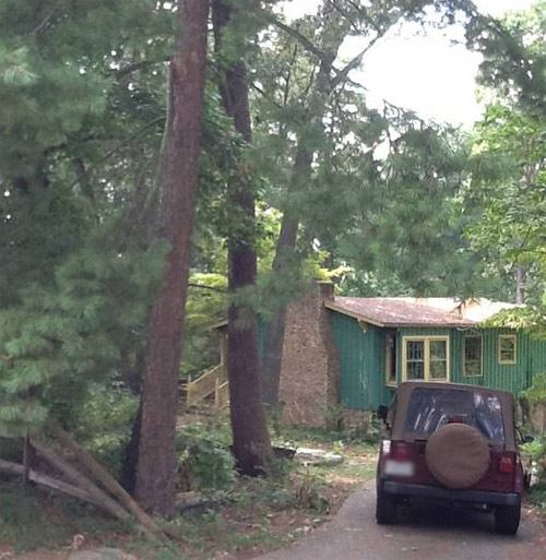 Our peaceful cottage in the woods.